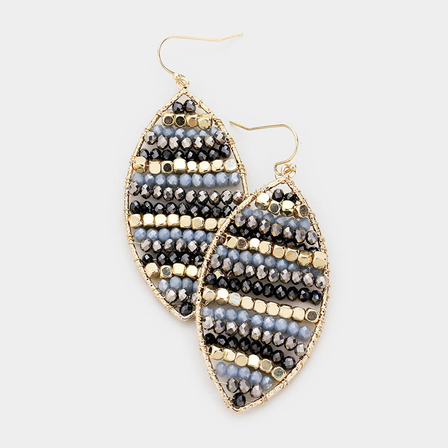 Navy Dreams Beaded Earrings
