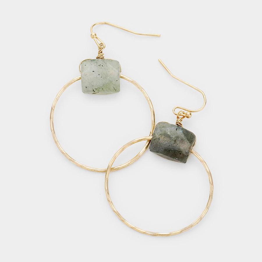 Natural Statements Hoop Earrings - Grey