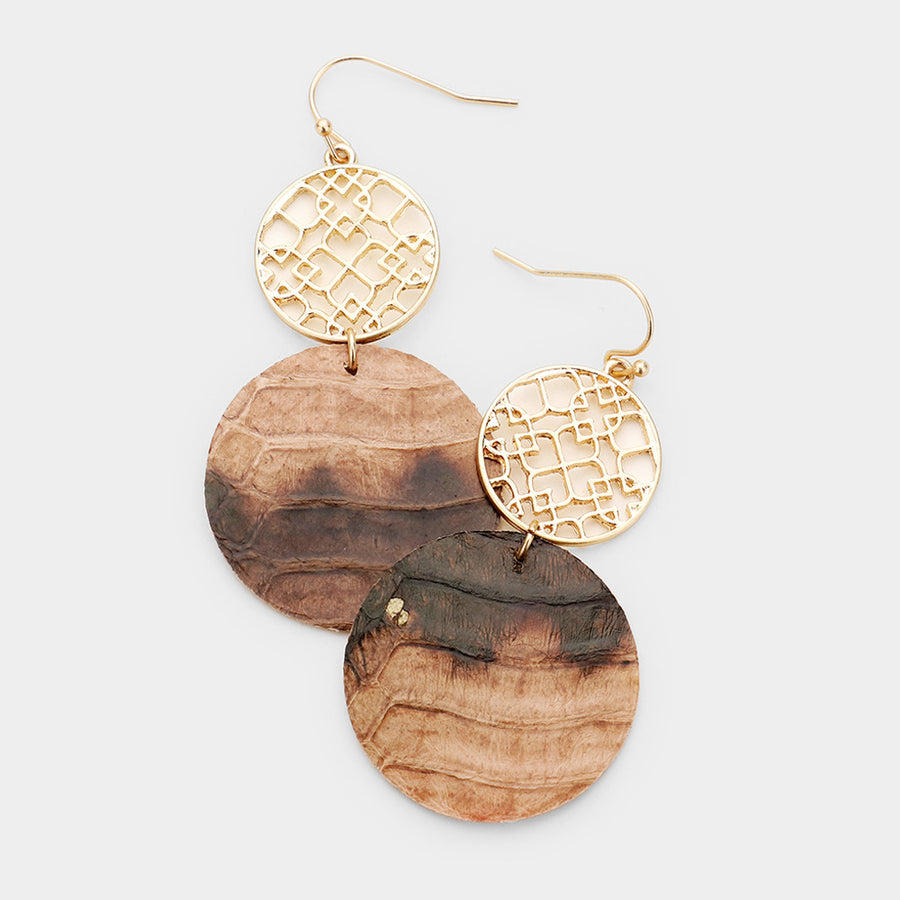 Moroccan Muse Earrings - Brown
