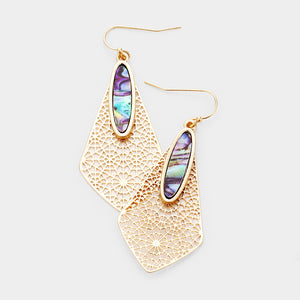 Complete Perfection Abalone Earrings - Gold