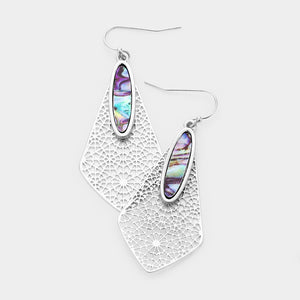 Complete Perfection Abalone Earrings - Silver