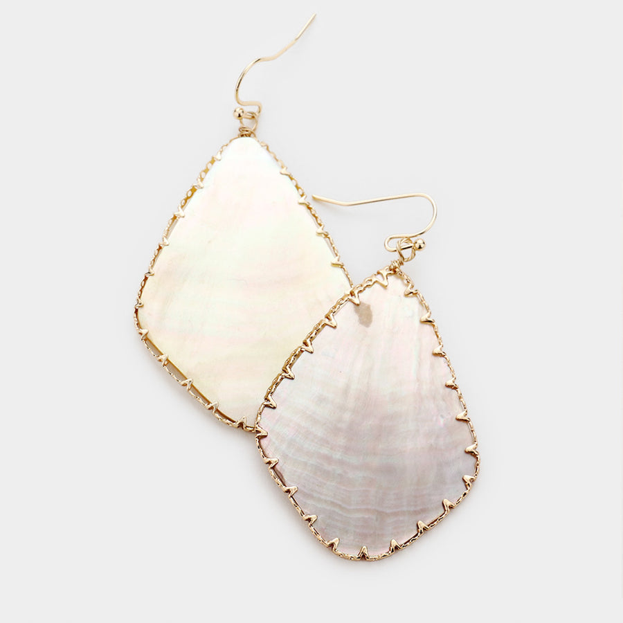 Framed Around Shell Earrings - Abalone