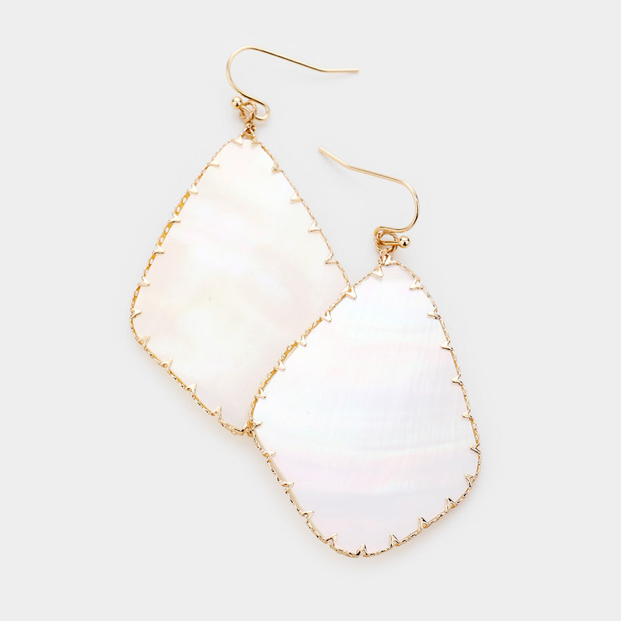 Framed Around Shell Earrings - Mother of Pearl