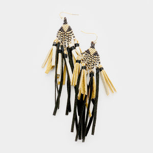 Sueded Perfection Tassel Fringe Statement Earrings