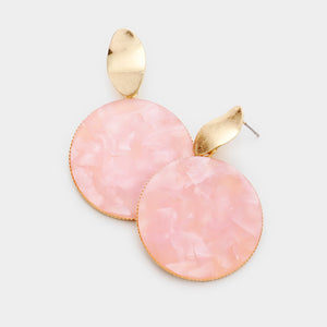 Take Your Best Shot Dangle Earrings - Pink