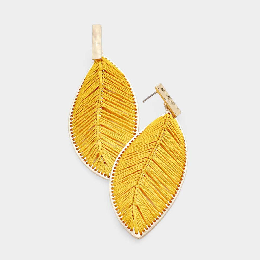 Threading Feather Leafs - Gold