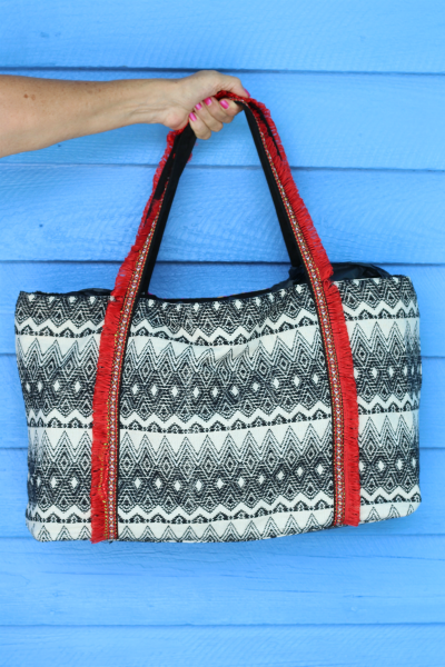 Multi Color Beaded Bag