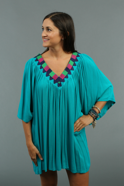 Embroidered Goddess Tunic