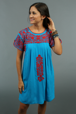 Carolina Embroidered Dress by Buddylove Clothing