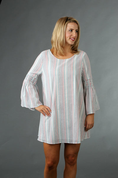 Striped Scoop Neck Tent Dress