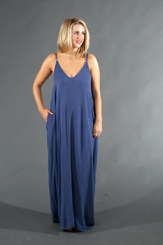 Cocoon Maxi Dress - Coastal Blue