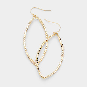 Good Times Metallic Beaded Earrings - Gold