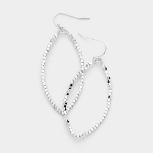 Good Times Metallic Beaded Earrings - Silver