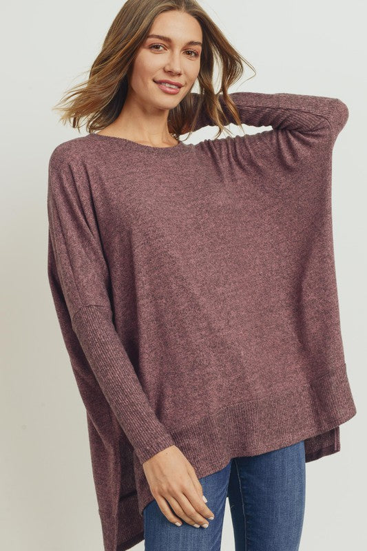 Its A Must Hi-Low Tunic Top - Mauve