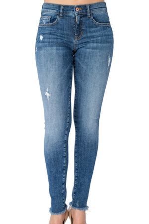 The Katie Unfinished Hem Skinny Jean
