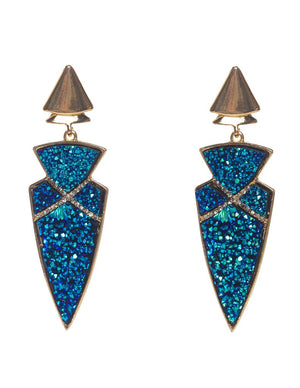 Taos Druzy Arrow Earrings BuddyLove Clothing