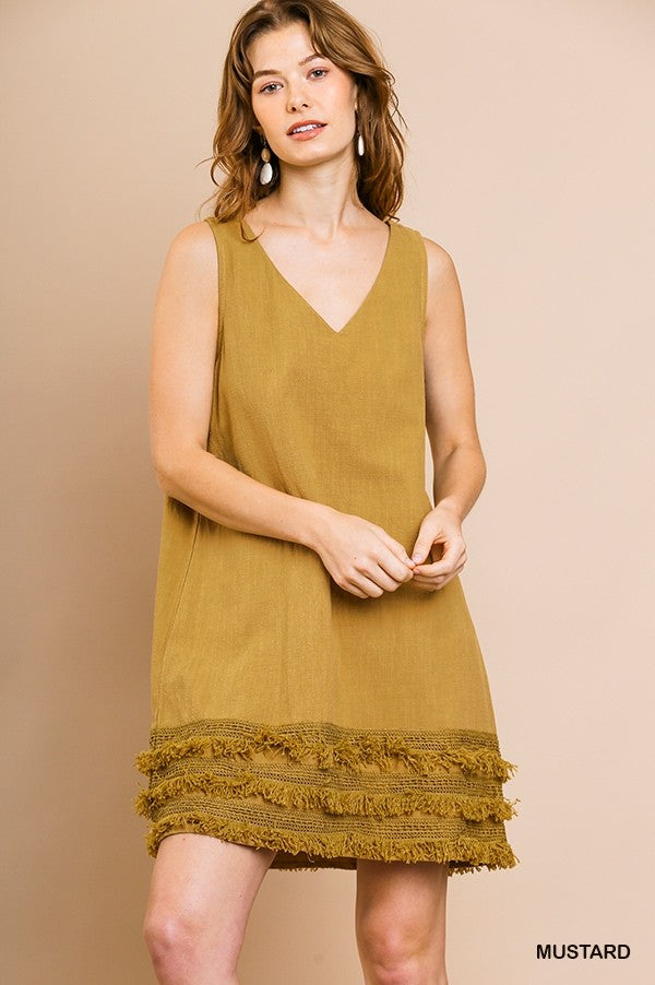 Fringe Benefits Dress - Gold