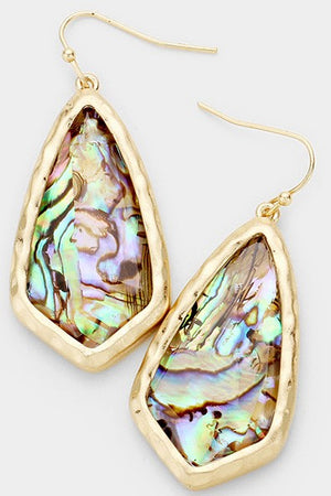 Quadrangle Stone Earrings