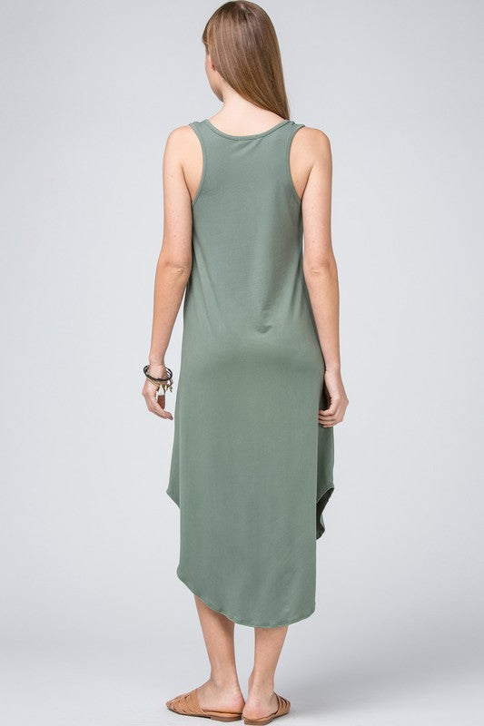 Wandering Ways Scooped Midi Dress