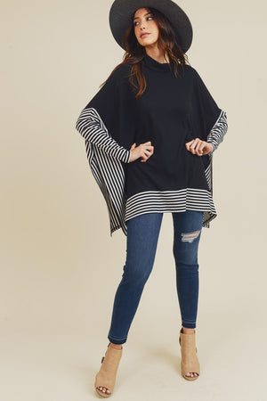 Everyday Hero Striped Top - Black