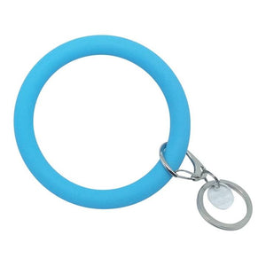 Bangle and Babe Bangle Bracelet Key Ring - Bright Blue
