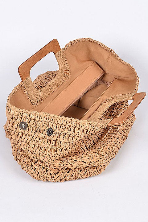 Take Me To The Beach Straw Bag