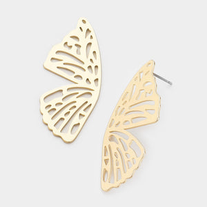Butterfly Kisses Earrings - Gold