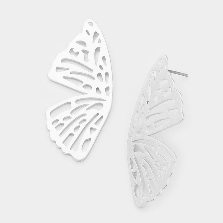 Butterfly Kisses Earrings - Silver