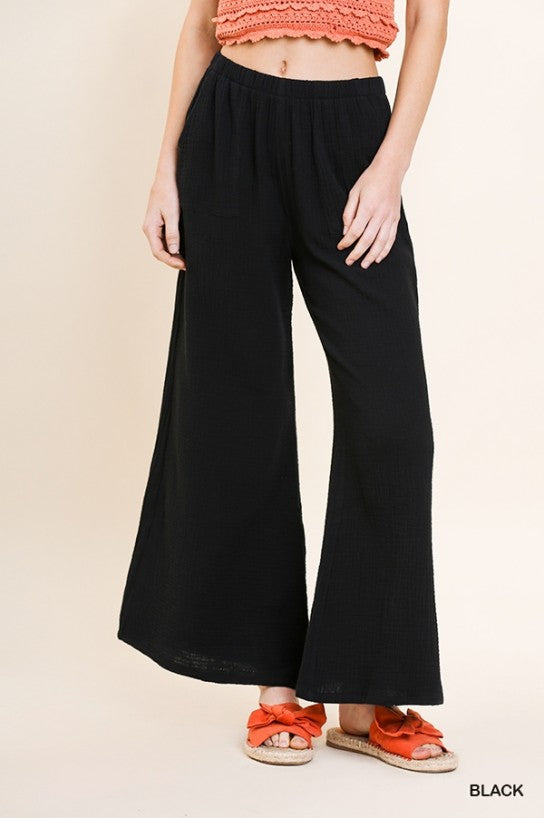 Wide Leg Ankle Pants