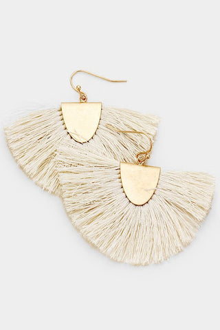 Fanning Fringe Earrings - Ivory