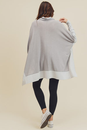 Everyday Hero Striped Top - Silver Grey