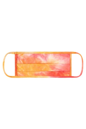 Children's Face Mask - Coral Tie Dye