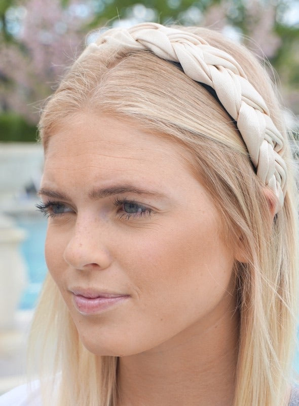 Upper West Side Braided Headband - Ivory