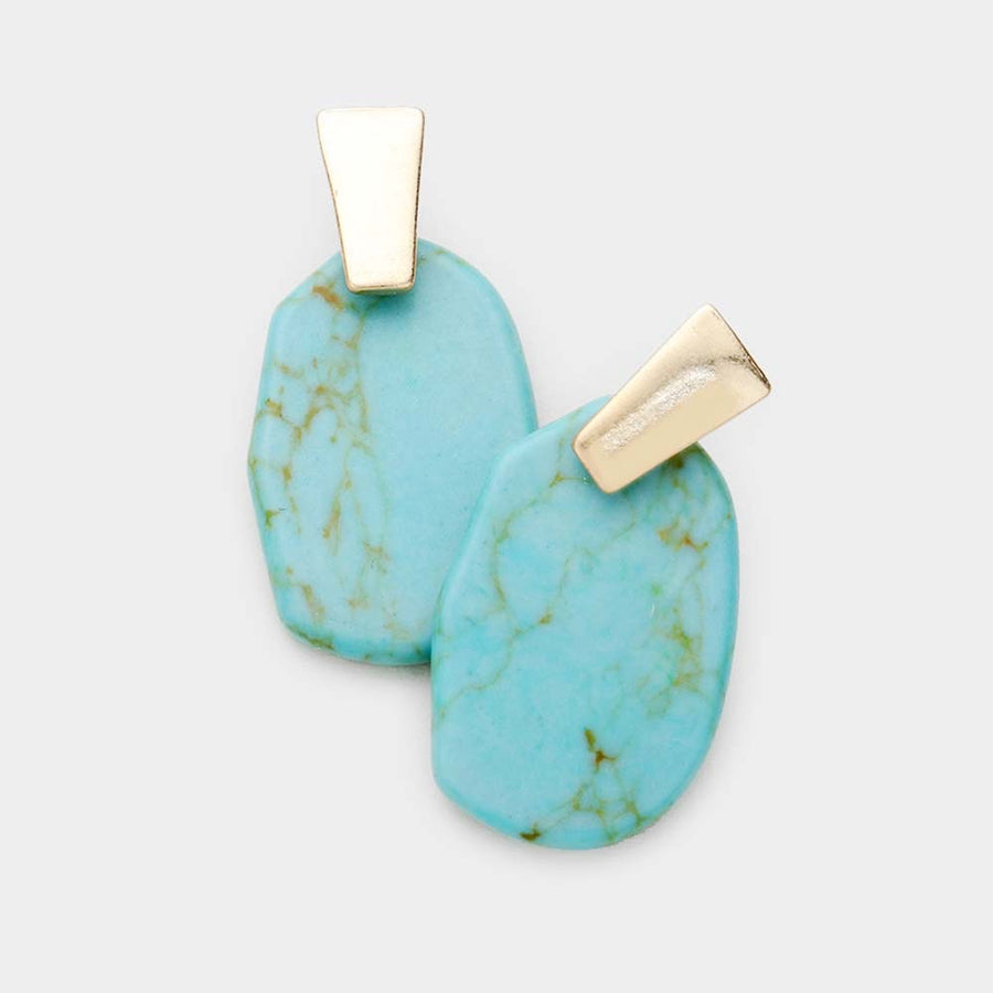 Kendra Stones Earrings - Turquoise