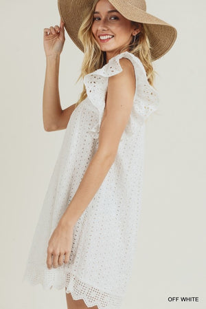 Rosemary Eyelet Dress - Off White