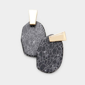 Kendra Stones Earrings - Black