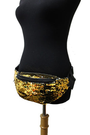 Sequin Fanny Pack - Gold