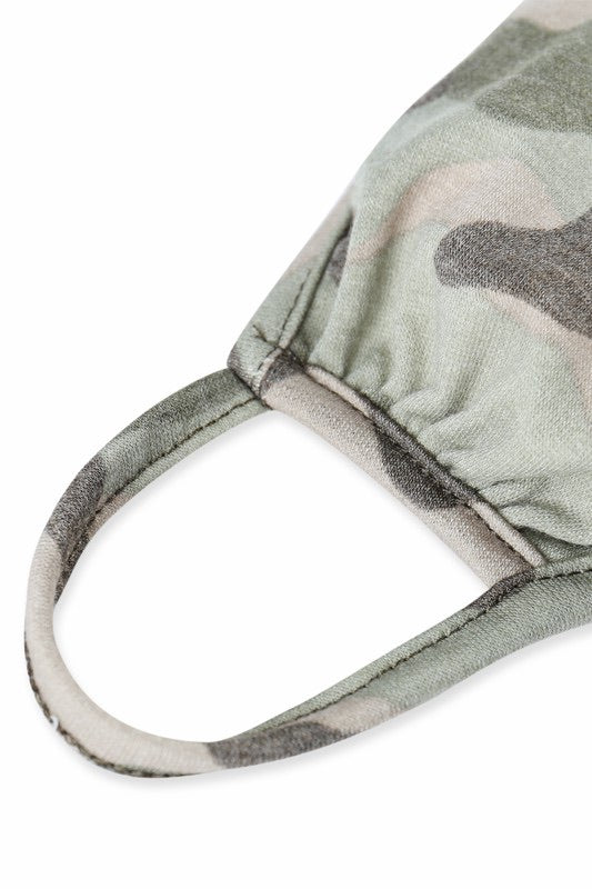 Camo Adult Face Mask