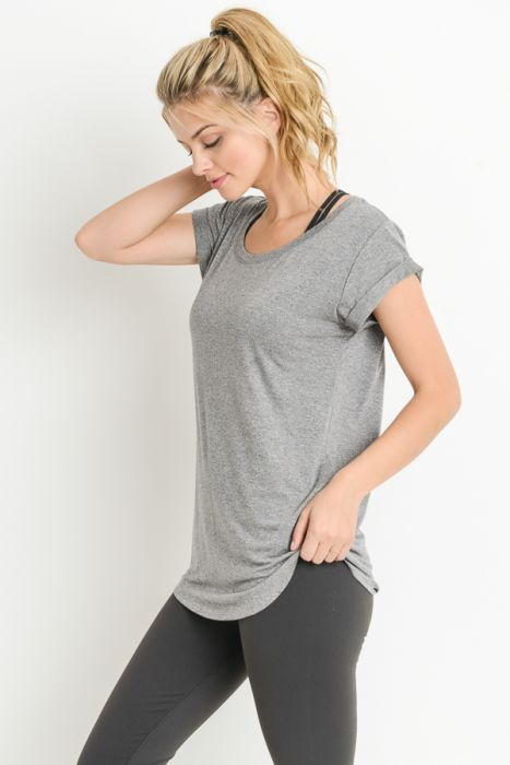 All Day Every Day Tee - Heather Grey