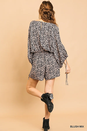 Act Fast Animal Print Romper
