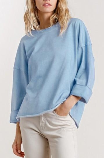 Magical Mineral Terry Top - Denim
