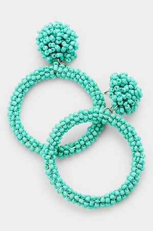 Cut Out Earrings - Mint