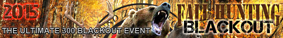2015 Fall Hunting 300 Blackout Special Event Header