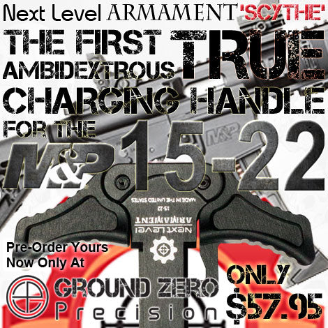 Pre-order the Next Level Armament NLX Scythe Ambi Charging Handle for M&P 15-22