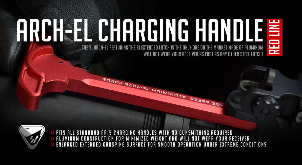 Strike Industries Extended Latch AR15 Charging Handle - Red