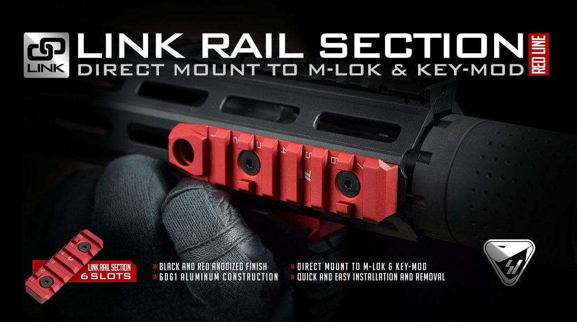 Strike Industries KEYMOD & M-LOK Rail Section with QD Feature