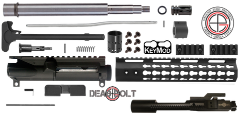 "DIY 10.5"" .223 / 5.56 Stainless AR15 Upper Receiver w/ Keymod Free-Float (4SH-SS) - FREE SHIPPING"