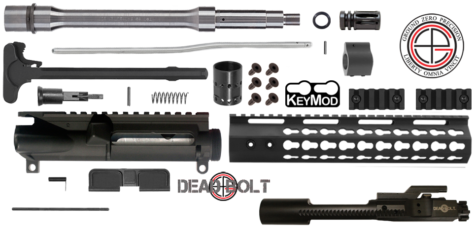 "DIY 10.5"" .223 / 5.56 Stainless AR15 Upper Receiver w/ Keymod Free-Float"