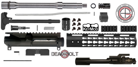 "DIY 10.5"" .223 / 5.56 Stainless AR15 Upper Receiver w/ Keymod Free-Float 4C - FREE SHIPPING"