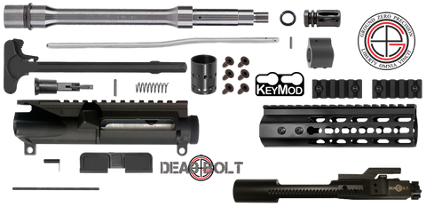 "DIY 10.5"" .223 / 5.56 Stainless AR15 Upper Receiver w/ Keymod Free-Float 3C - FREE SHIPPING"